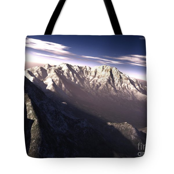 Terragen Render Of Kitt Peak, Arizona Tote Bag by Rhys Taylor