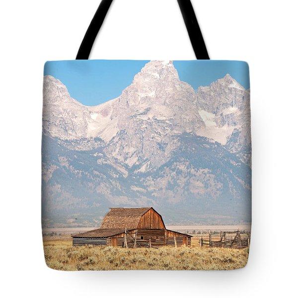 Teton Mormon Barn Tote Bag by Bob and Nancy Kendrick