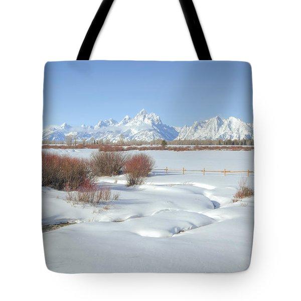 Teton Snow Tote Bag by Idaho Scenic Images Linda Lantzy