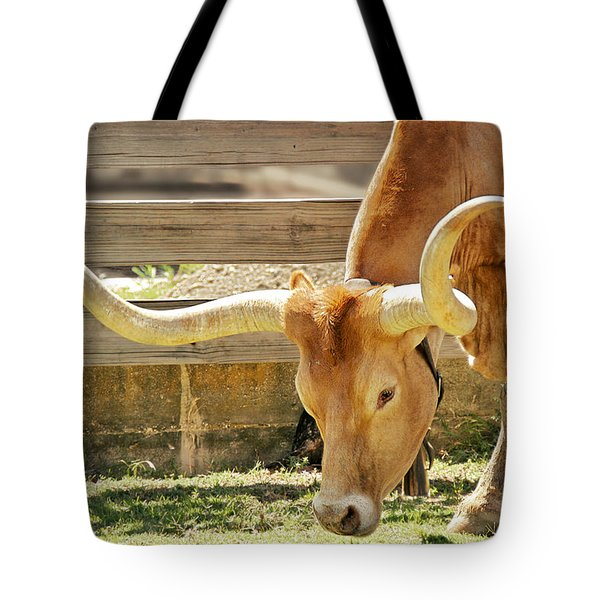 Texas Longhorns - A genetic gold mine Tote Bag by Christine Till