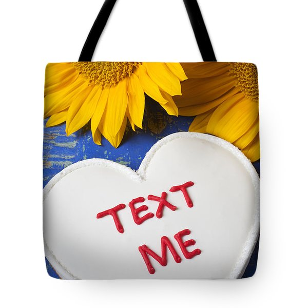 Text Me Tote Bag by Garry Gay