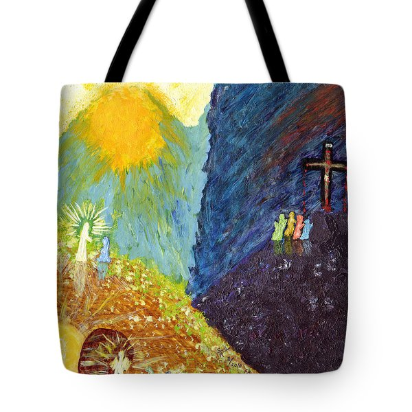 Thank God For Good Friday And Easter Sunday Tote Bag by Carl Deaville