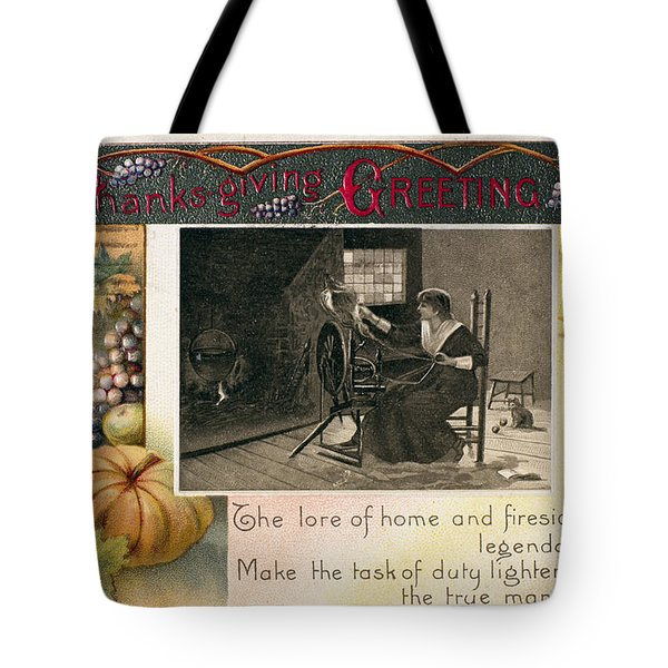 Thanksgiving Card, 1909 Tote Bag by Granger