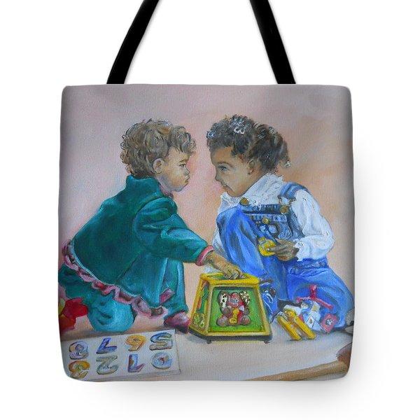 That's Mine Tote Bag by Joyce Reid
