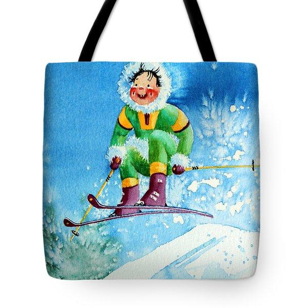 The Aerial Skier - 9 Tote Bag by Hanne Lore Koehler