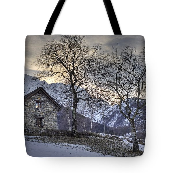 The Alps In Winter Tote Bag by Joana Kruse