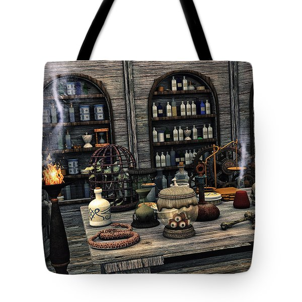 The Apothecary Tote Bag by Jutta Maria Pusl