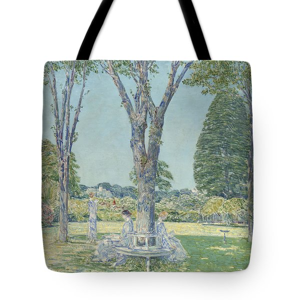 The Audition Tote Bag by Childe Hassam