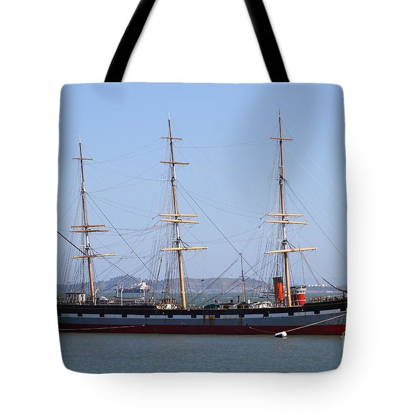 The Balclutha . A 1886 Square Rigged Cargo Ship At The Hyde Street Pier In Sf California . 7d14069 Tote Bag by Wingsdomain Art and Photography