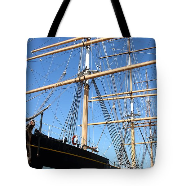 The Balclutha . A 1886 Square Rigged Cargo Ship At The Hyde Street Pier In Sf California . 7d14135 Tote Bag by Wingsdomain Art and Photography