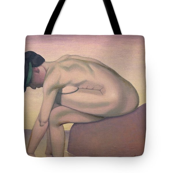 The Bather Tote Bag by Felix Edouard Vallotton