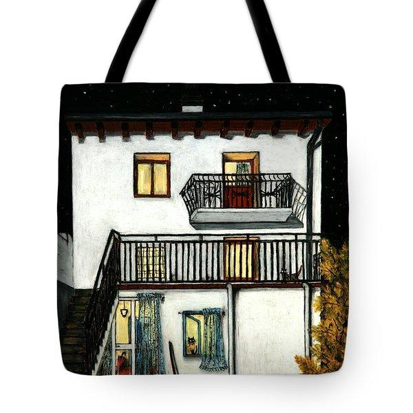 The Beginning Of Autunm In Muggianu's House Tote Bag by Donatella Muggianu