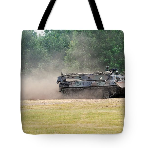 The Bergepanzer Used By The Belgian Army Tote Bag by Luc De Jaeger