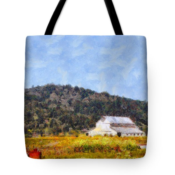 The Big White Barn At Point Reyes California . 7d15933 Tote Bag by Wingsdomain Art and Photography
