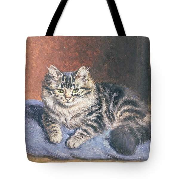 The Blue Cushion Tote Bag by Horatio Henry Couldery