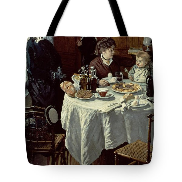 The Breakfast Tote Bag by Claude Monet