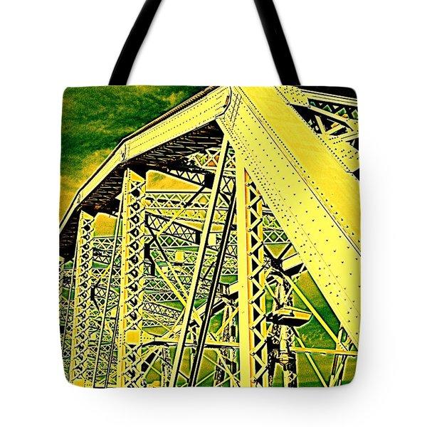 The Bridge to The Skies Tote Bag by Susanne Van Hulst