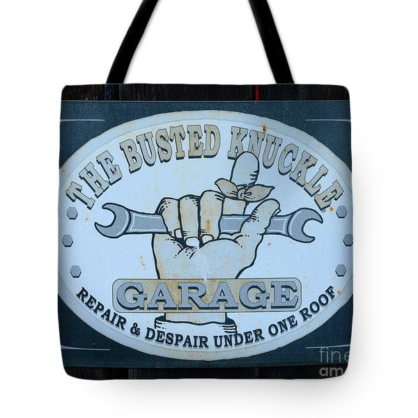 The Busted Knuckle Tote Bag by Paul Ward