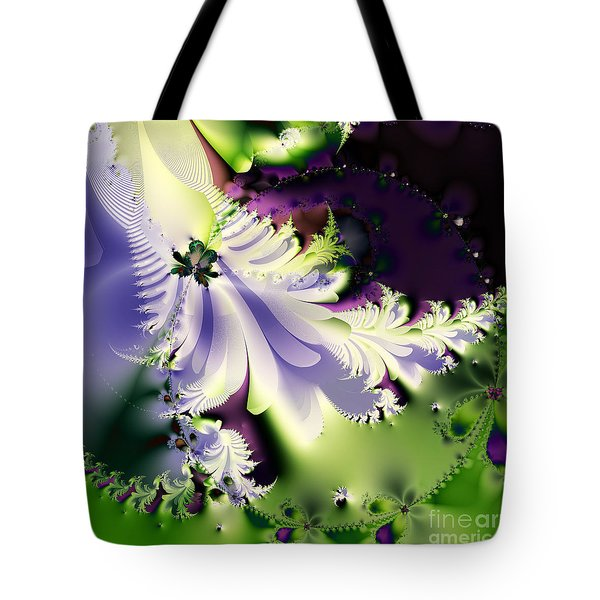 The Butterfly Effect . Version 2 . Square Tote Bag by Wingsdomain Art and Photography