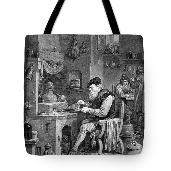 The Chemist, 17th Century Tote Bag by Science Source