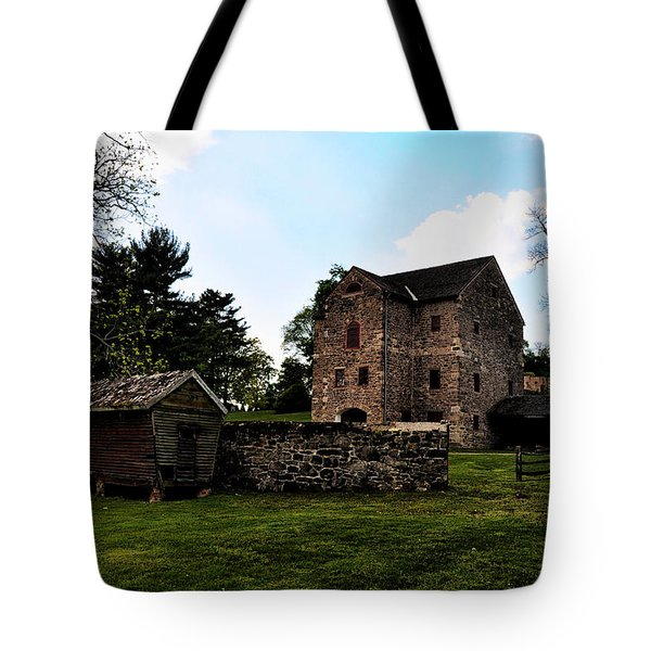 The Chicken Coop And The Barn Tote Bag by Bill Cannon