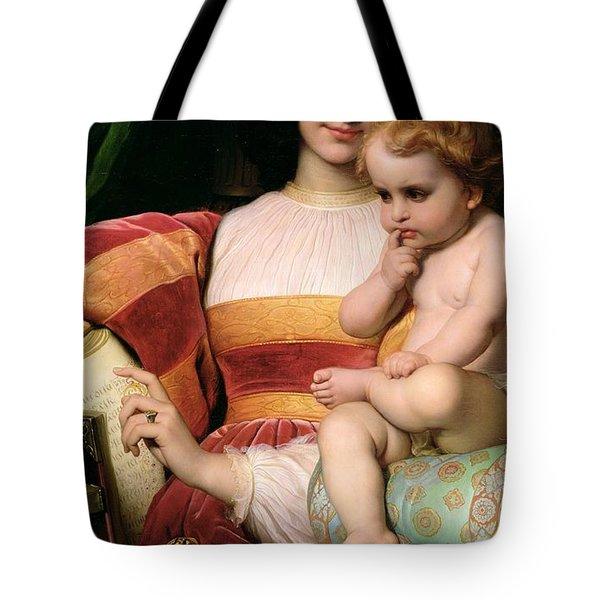 The Childhood Of Pico Della Mirandola Tote Bag by Hippolyte Delaroche