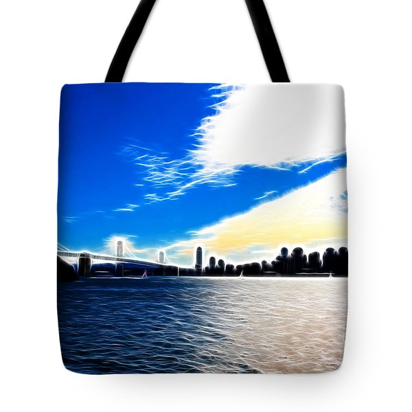 The City By The Bay Tote Bag by Wingsdomain Art and Photography