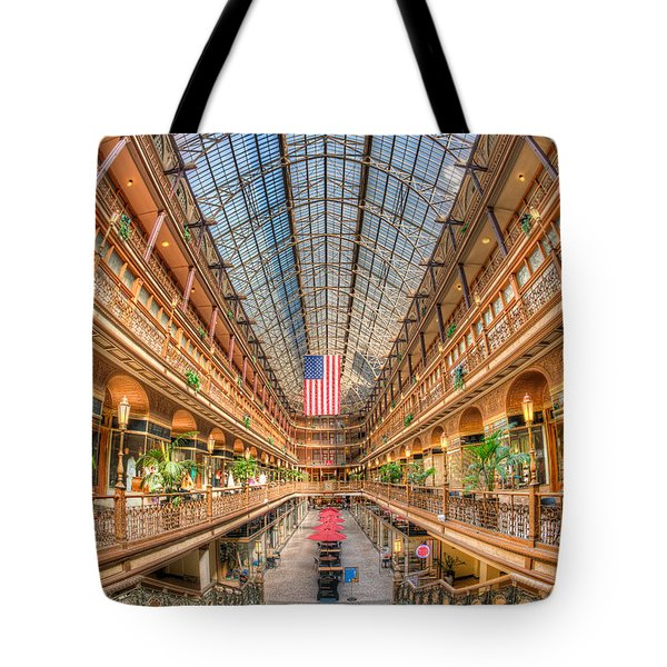 The Cleveland Arcade II Tote Bag by Clarence Holmes