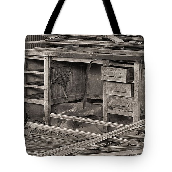 The Cluttered Desk Tote Bag by JC Findley