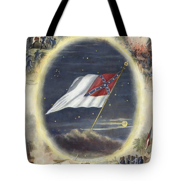 The Confederate Flag, 1867 Tote Bag by Granger