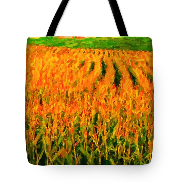 The Cornfield Tote Bag by Wingsdomain Art and Photography