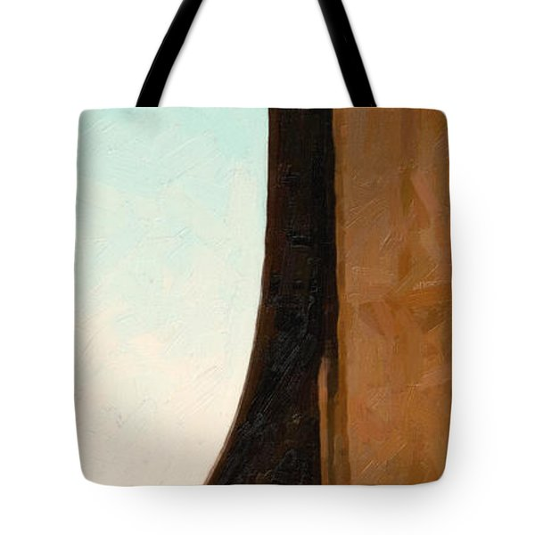 The Crockett Carquinez Bridge Skyway In Abstract Tote Bag by Wingsdomain Art and Photography