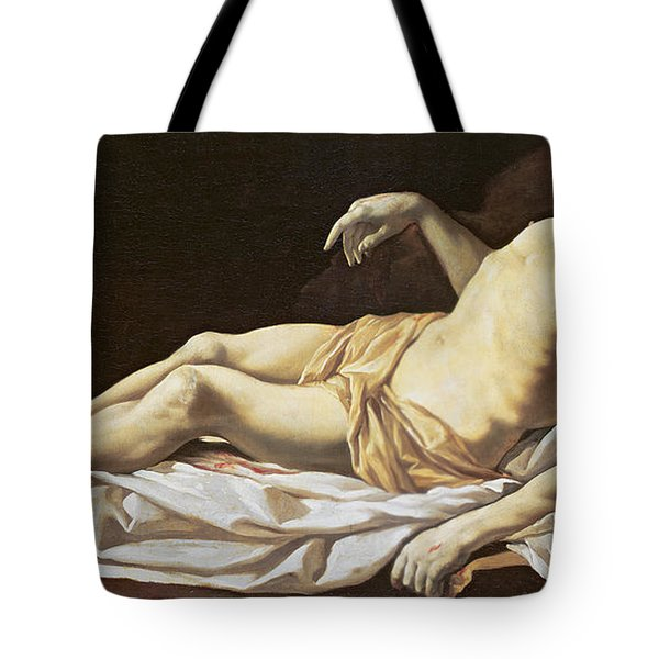 The Dead Christ Tote Bag by Charles Le Brun