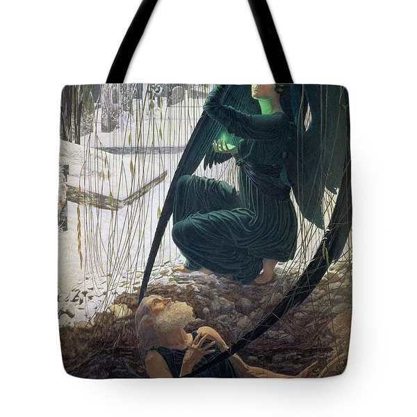 The Death And The Gravedigger Tote Bag by Carlos Schwabe