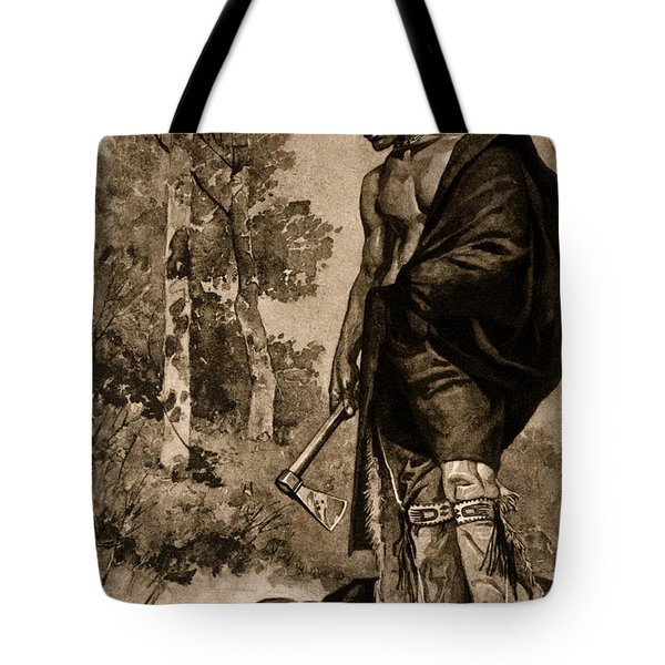 The Death Of Pontiac, 1769 Tote Bag by Photo Researchers