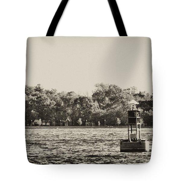 The Delaware River At Bristol Tote Bag by Bill Cannon