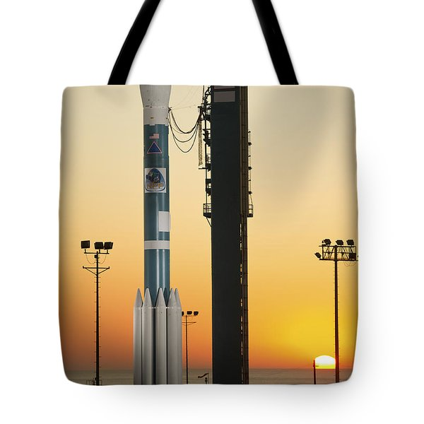 The Delta II Rocket On Its Launch Pad Tote Bag by Stocktrek Images