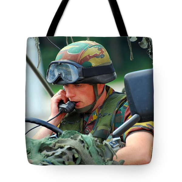 The Driver Of A Mortar Section Tote Bag by Luc De Jaeger