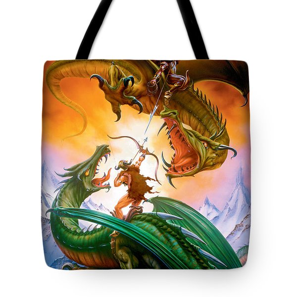 The Duel Tote Bag by The Dragon Chronicles