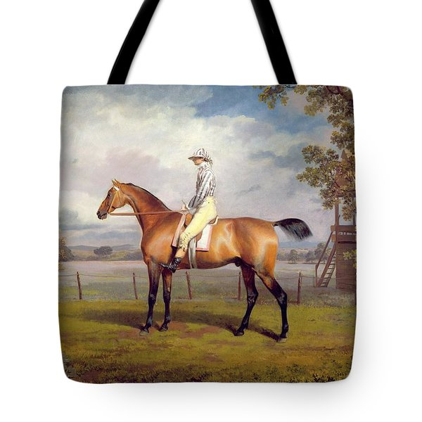 The Duke Of Hamilton's Disguise With Jockey Up Tote Bag by George Garrard