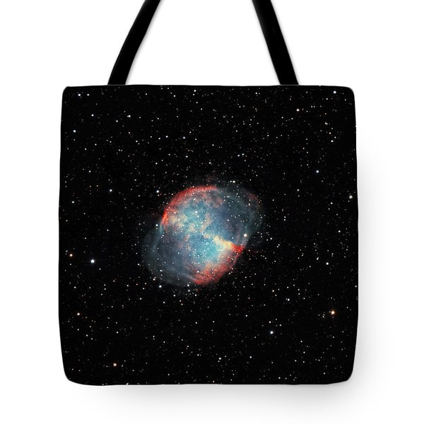 The Dumbbell Nebula Tote Bag by Rolf Geissinger