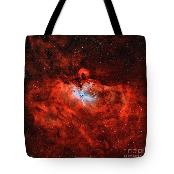The Eagle Nebula In The Constellation Tote Bag by Rolf Geissinger