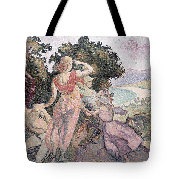 The Excursionists Tote Bag by Henri-Edmond Cross
