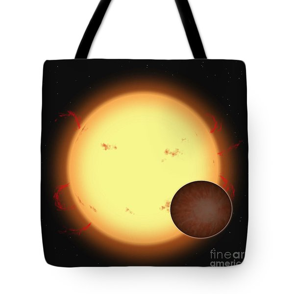The Extrasolar Planet Hd 209458 B Tote Bag by Ron Miller