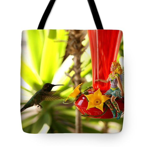 The Faeries Nectar Tote Bag by Lon Casler Bixby