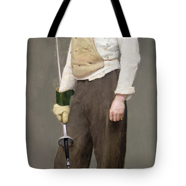 The Fencing Master Tote Bag by Julius Gari Melchers