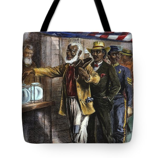 The First Vote, 1867 Tote Bag by Granger