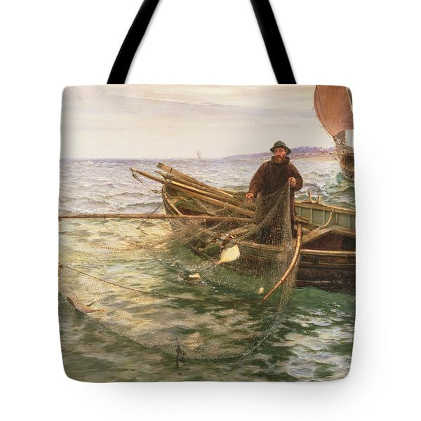 The Fisherman Tote Bag by Charles Napier Hemy