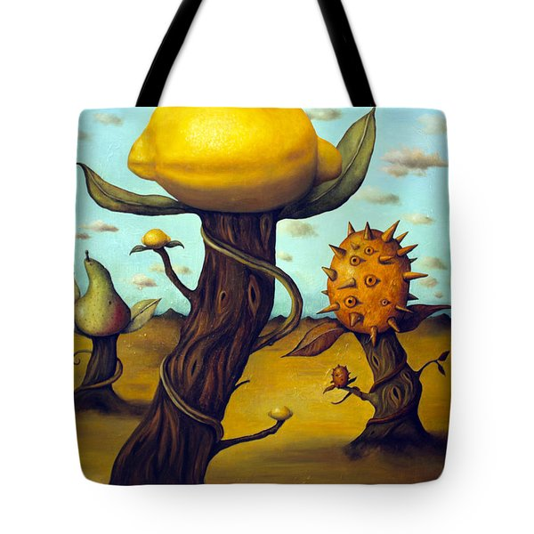 The Fruit Orchard Tote Bag by Leah Saulnier The Painting Maniac