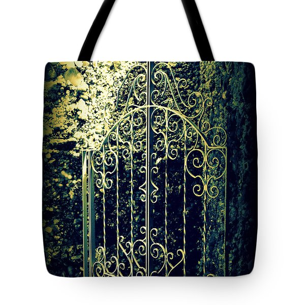 The Gate In The Grotto Of The Redemption Iowa Tote Bag by Susanne Van Hulst